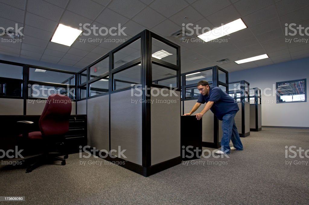 Office Furniture Installation royalty-free stock photo