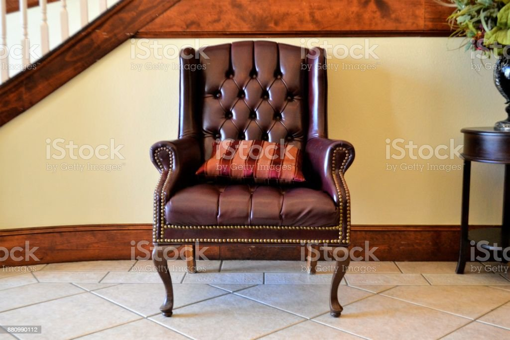 Office Furniture - Leather Chair stock photo