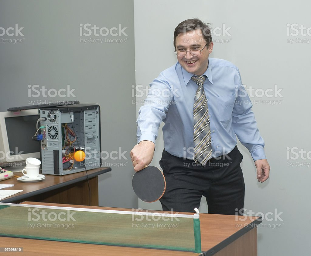 Office games royalty-free stock photo