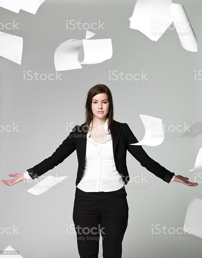 Office girl stock photo