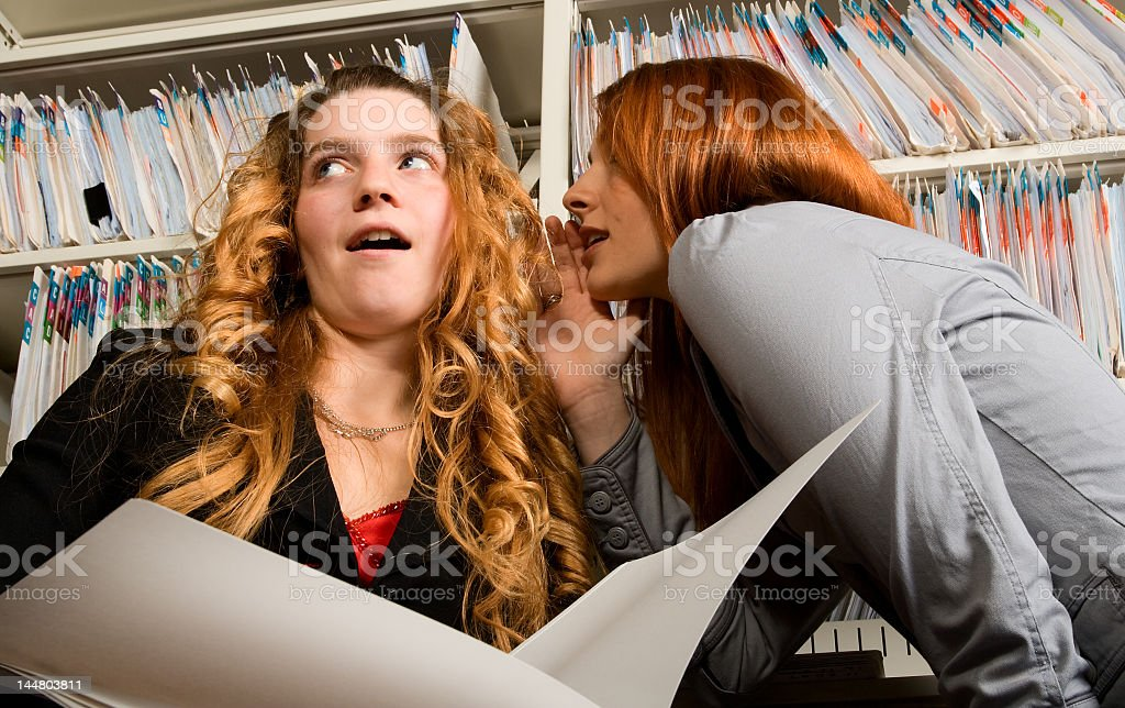 Office Gossip royalty-free stock photo