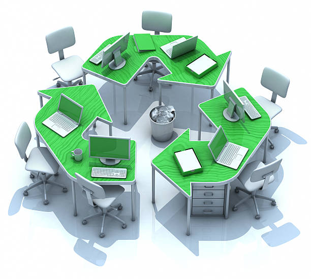 Büro grüne recycling-Schalter – Foto