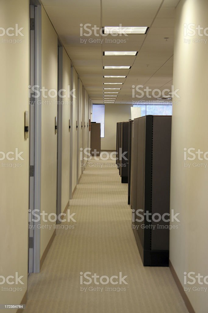 Office Hallway royalty-free stock photo