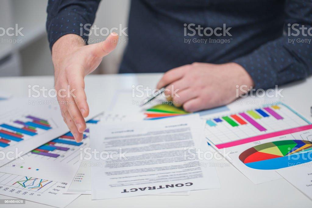 Office handshake royalty-free stock photo