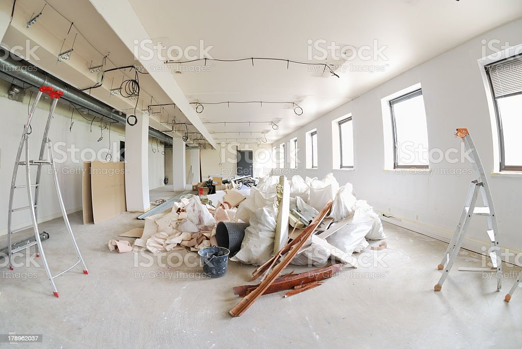 Office improvement with equipment stock photo