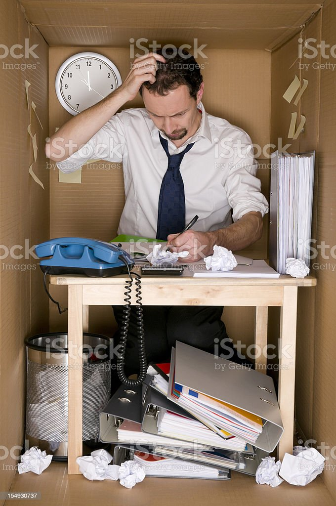 office in a box stock photo