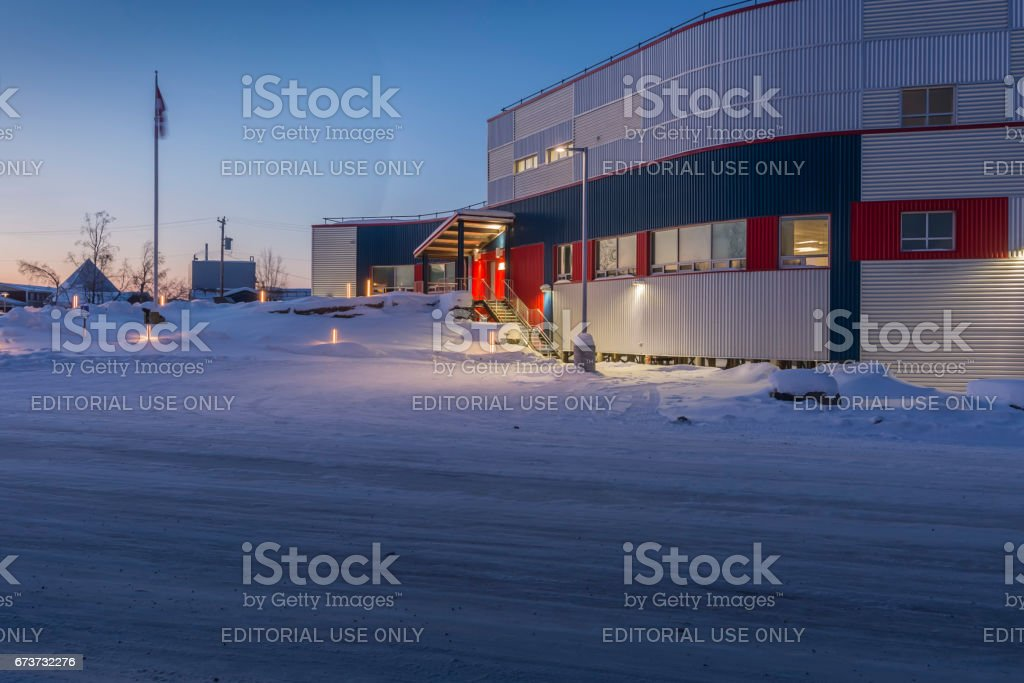 RCMP Office in Inuvik, Northwest Territories Canada stock photo