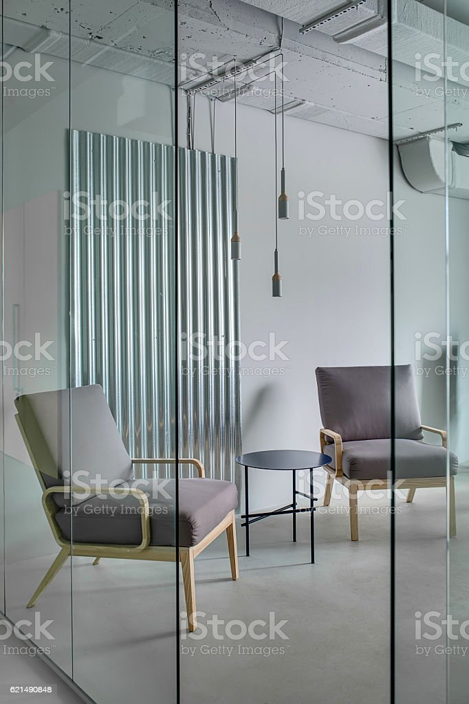 Office in loft style foto stock royalty-free