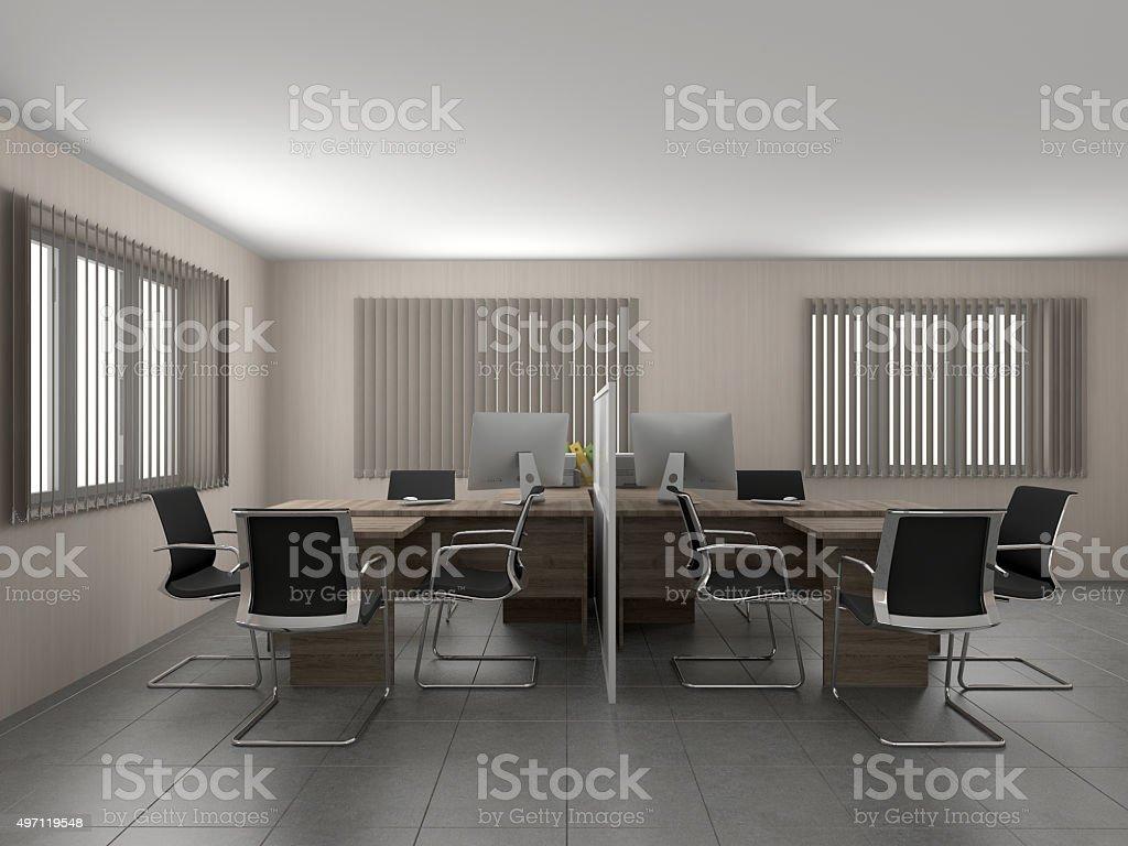 Büro 3D-Abbildung – Foto