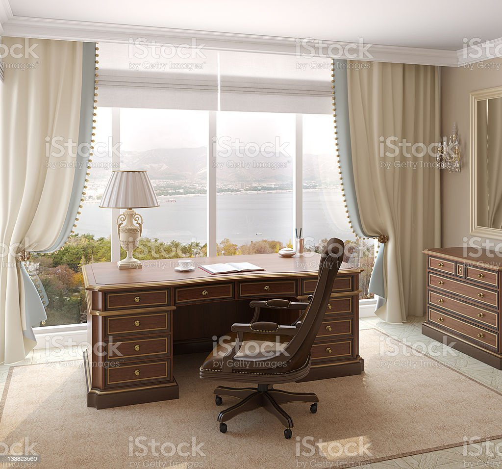 Office interior. stock photo