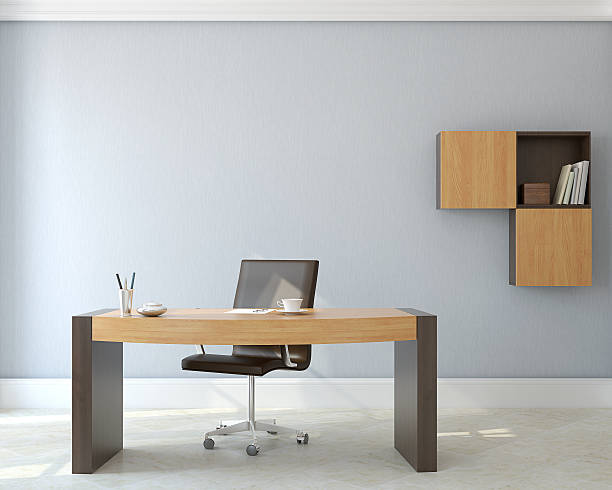escritório interior. - secretária mobília imagens e fotografias de stock