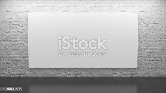 1089180420 istock photo Office interior with blank whiteboard 1250502822