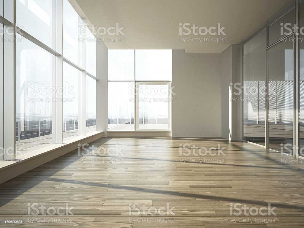 office interior with glass wall royalty-free stock photo