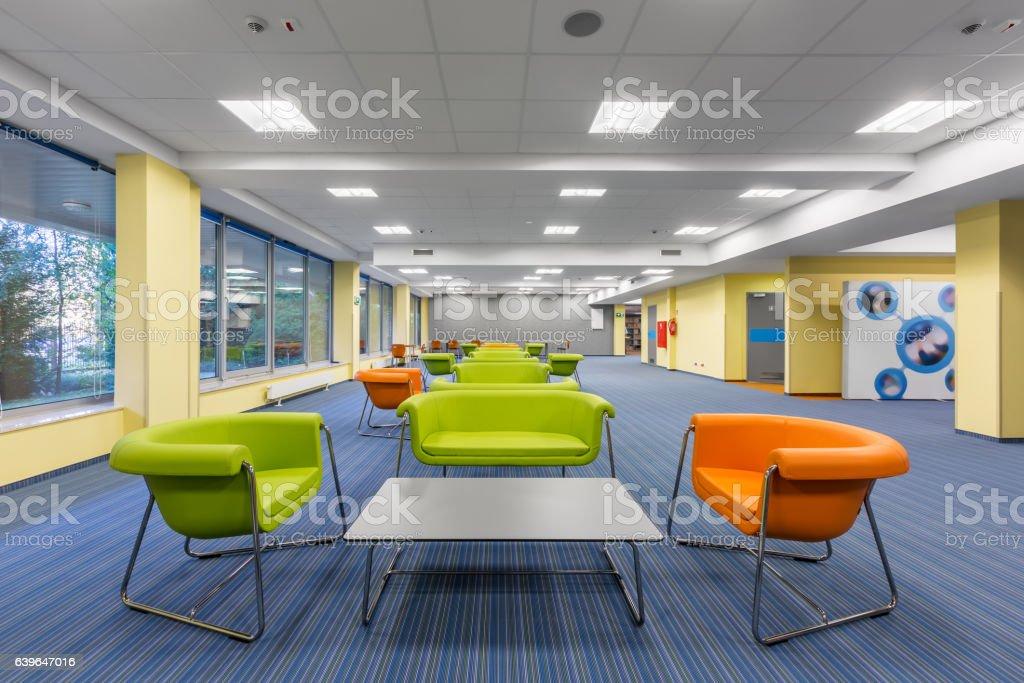Office interior with lounge area photo libre de droits