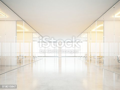 istock Office interior with white furniture 518015847