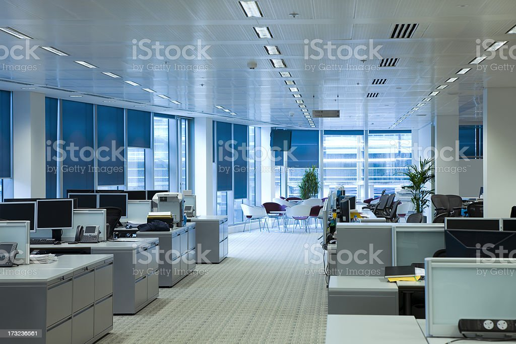 Office interior, workplaces stock photo