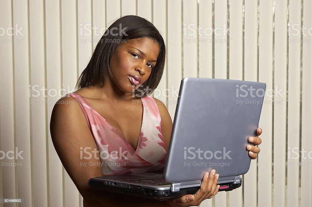 Office laptop royalty-free stock photo
