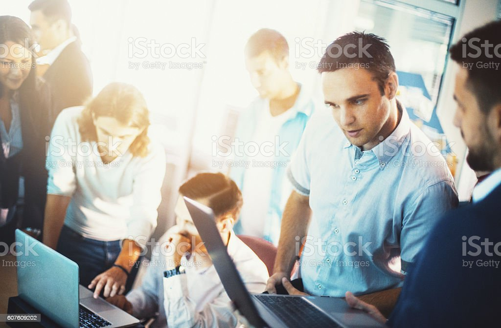Office life. stock photo