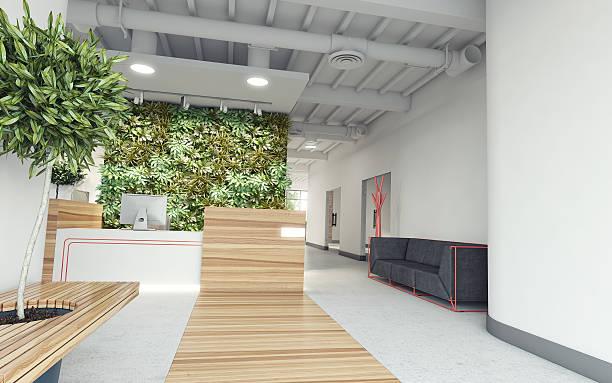 büro-lobby - foyerdesign stock-fotos und bilder