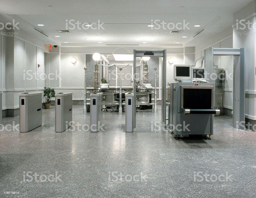 Office Lobby Security stock photo