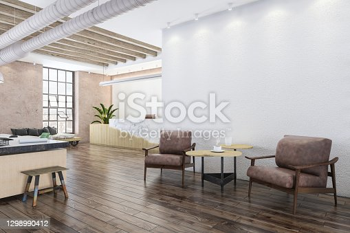 istock Office lobby with armchairs 1298990412