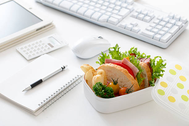 Office Lunch stock photo