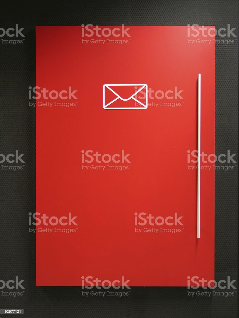 Office mail collection / pigeon holes royalty-free stock photo