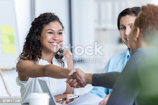 istock Office manager interviews potential new employee 829917158