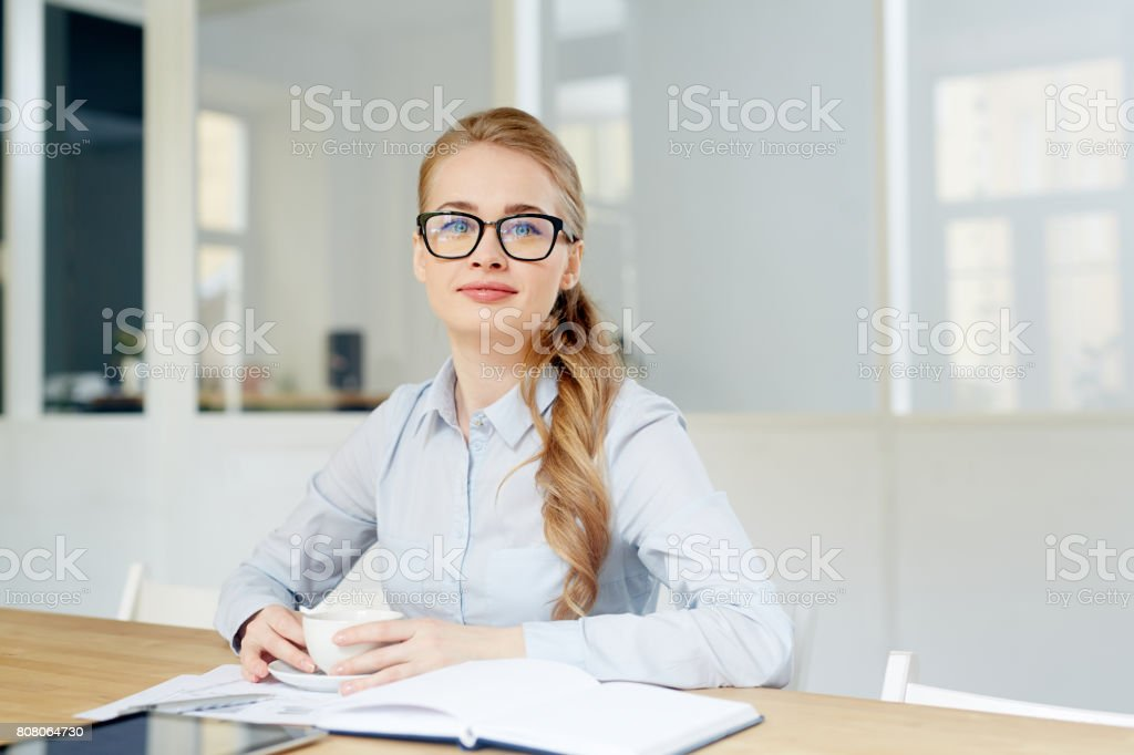 Office manager stock photo