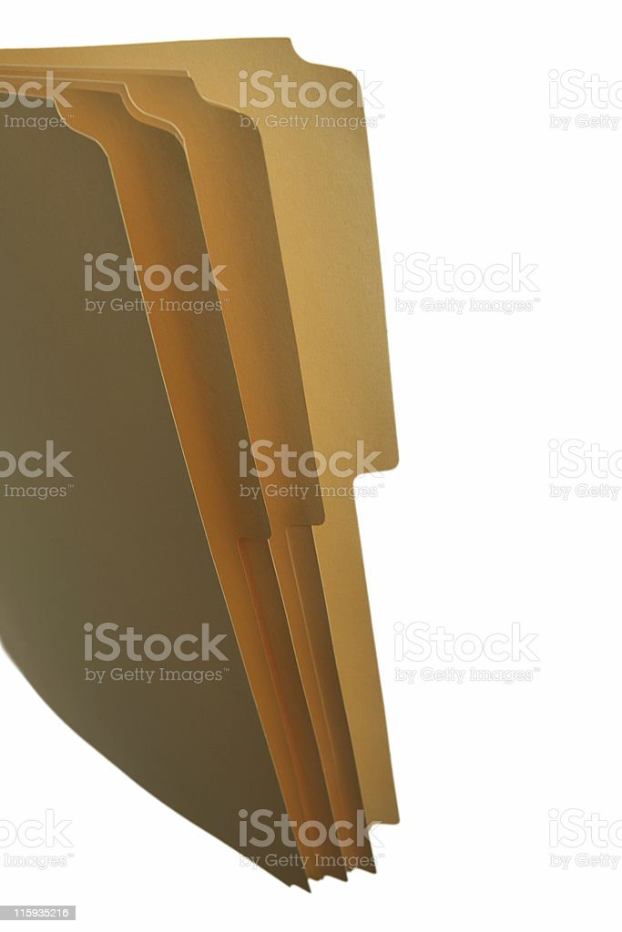 Office manila folder royalty-free stock photo