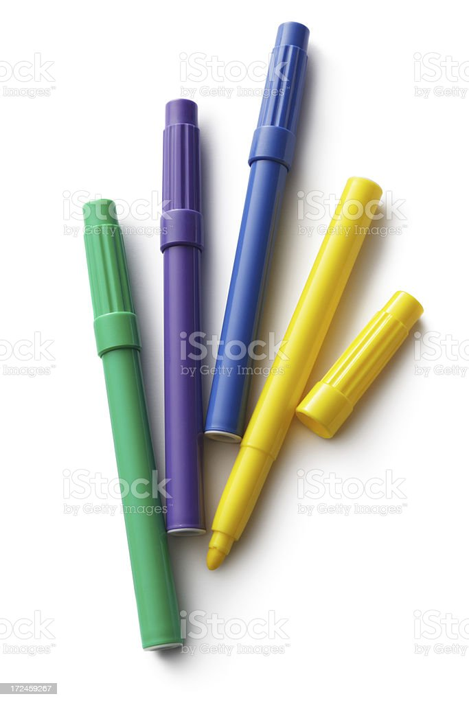 Office: Markers royalty-free stock photo