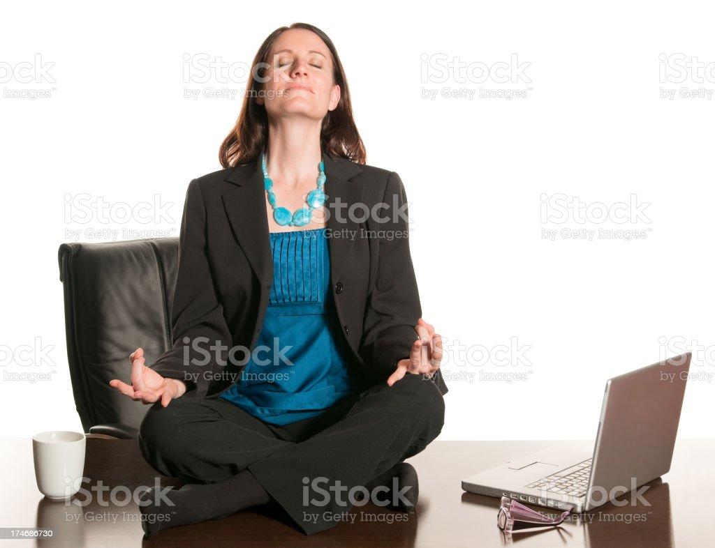 meditation office. Office Meditation Royalty-free Stock Photo
