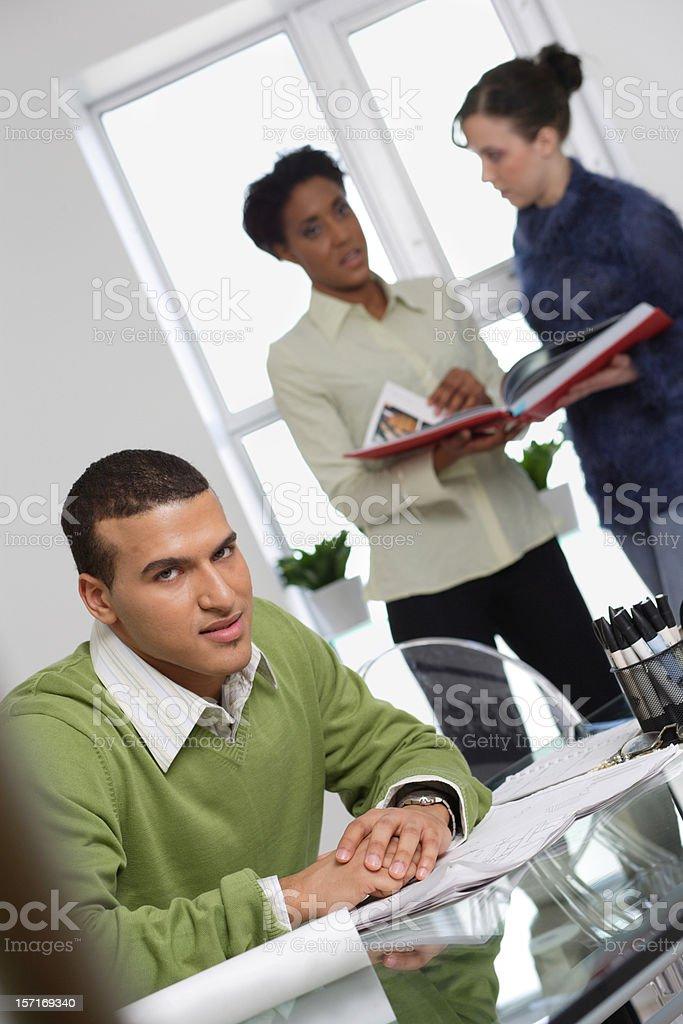 Office meeting break royalty-free stock photo