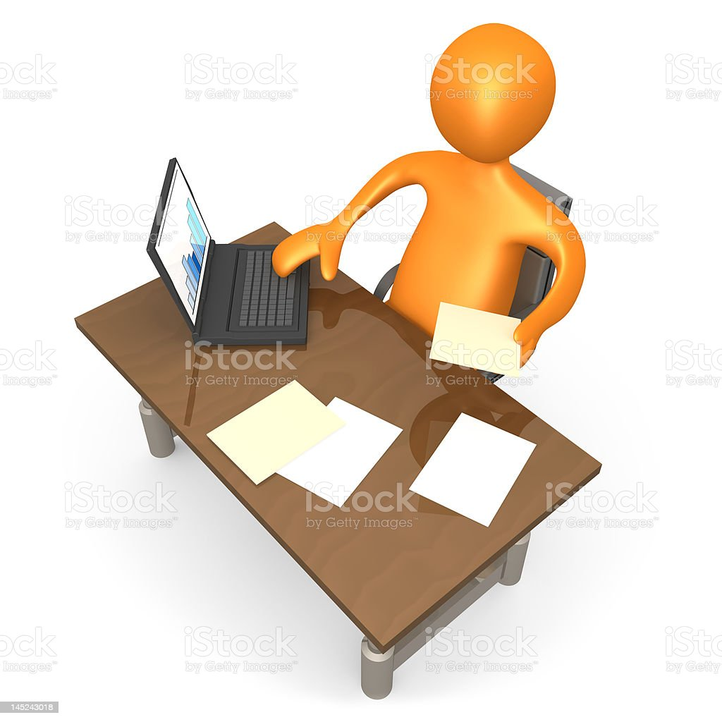 Office Moment royalty-free stock photo