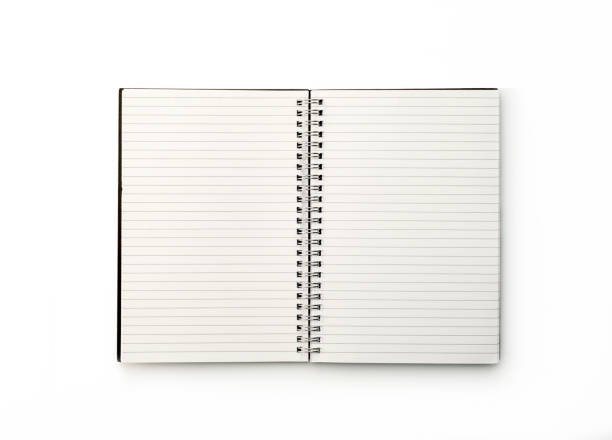 office: notebook on white background - note pad stock photos and pictures