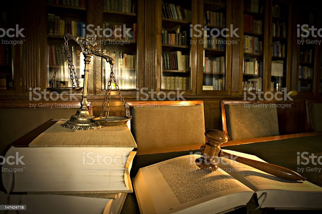 Office of a Judge consisting of many books royalty-free stock photo