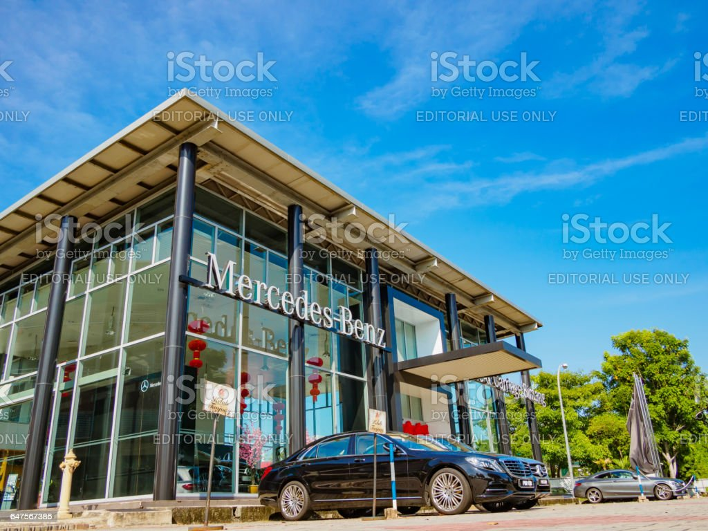 Office of official dealer Mercedes-Benz Penang Malaysia stock photo