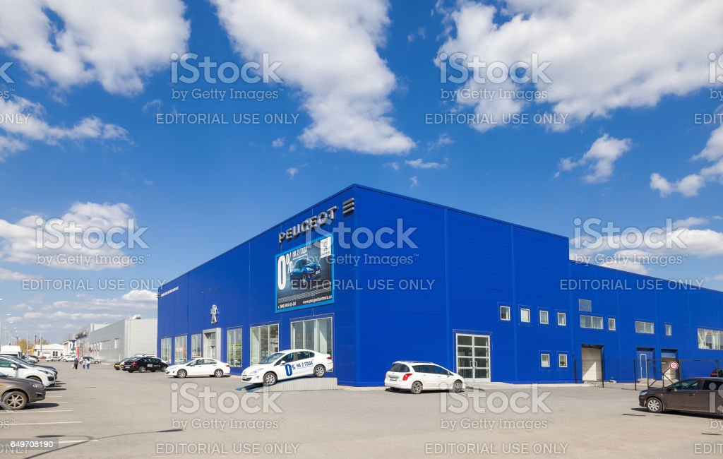 Office of official dealer Peugeot in Samara, Russia stock photo
