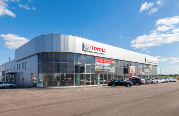office of official dealer toyota in samara, russia - トヨタ ストックフォトと画像