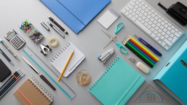 Office: Office Supplies Still Life Office: Office Supplies Still Life office equipment stock pictures, royalty-free photos & images