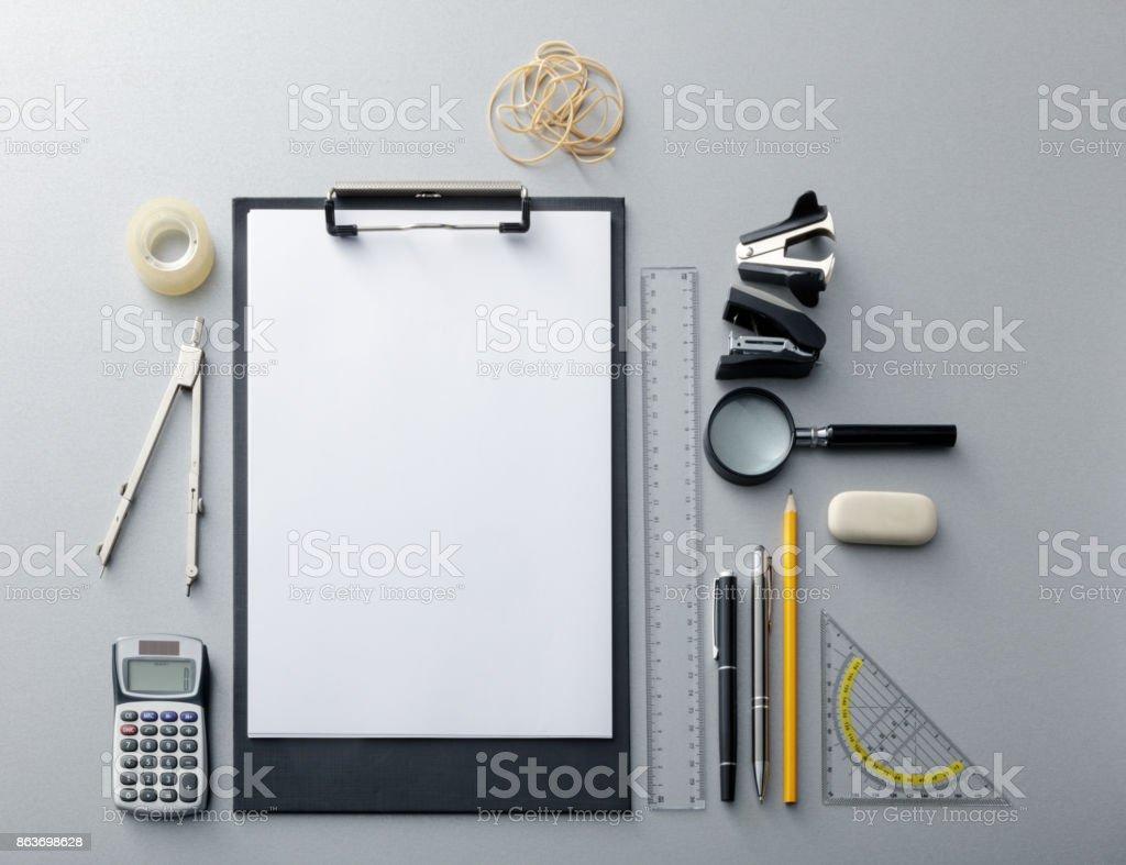 Office: Office Supplies Still Life - fotografia de stock