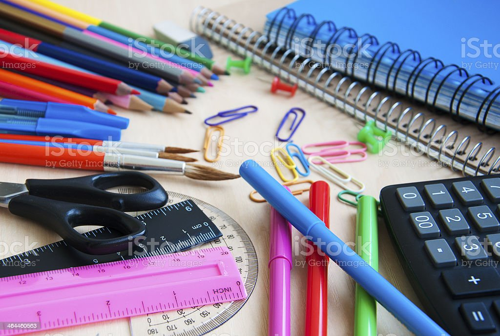 office or school supplies royalty-free stock photo