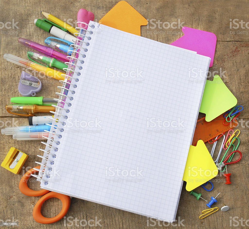 Office or school supply royalty-free stock photo