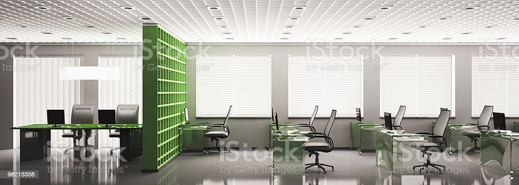 office panorama 3d royalty-free stock photo