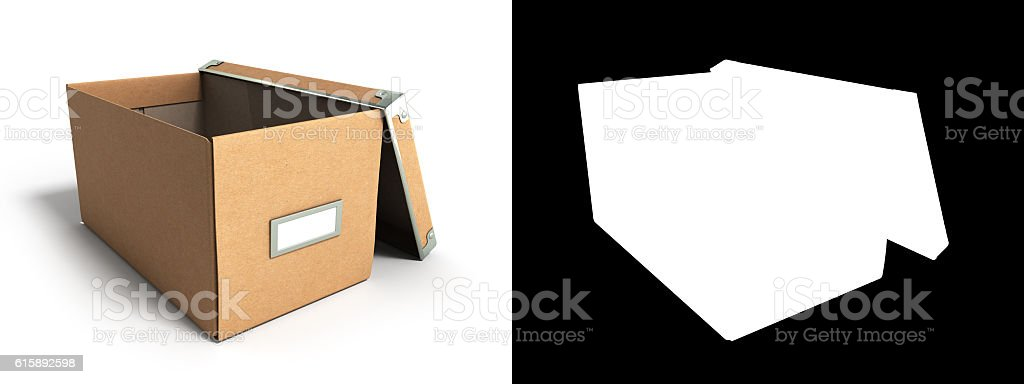 Office paper box for documents 3d render stock photo