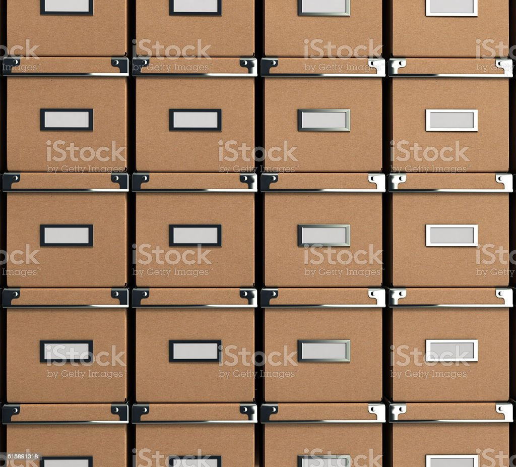 Office paper box for documents as background 3d illustration on stock photo