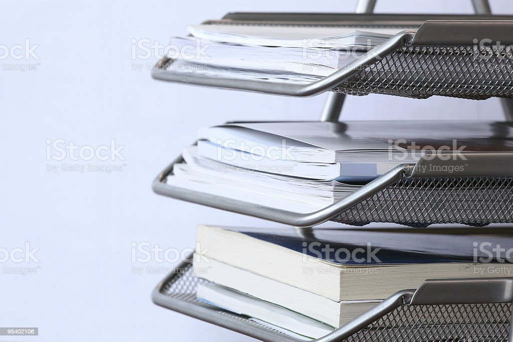 office paper tray royalty-free stock photo