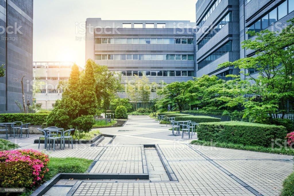 Office Park in Japan stock photo
