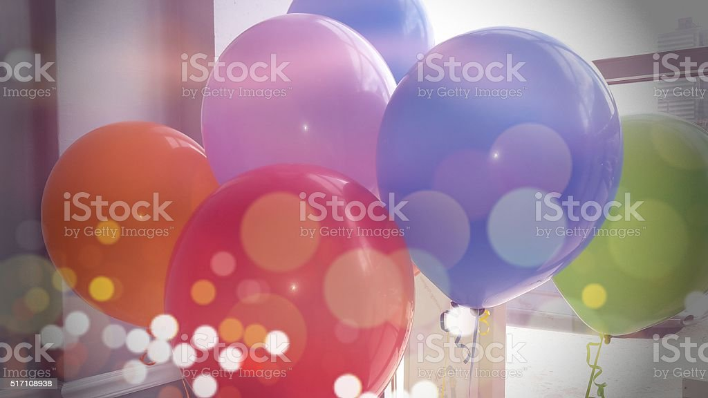 Office Party Balloons stock photo