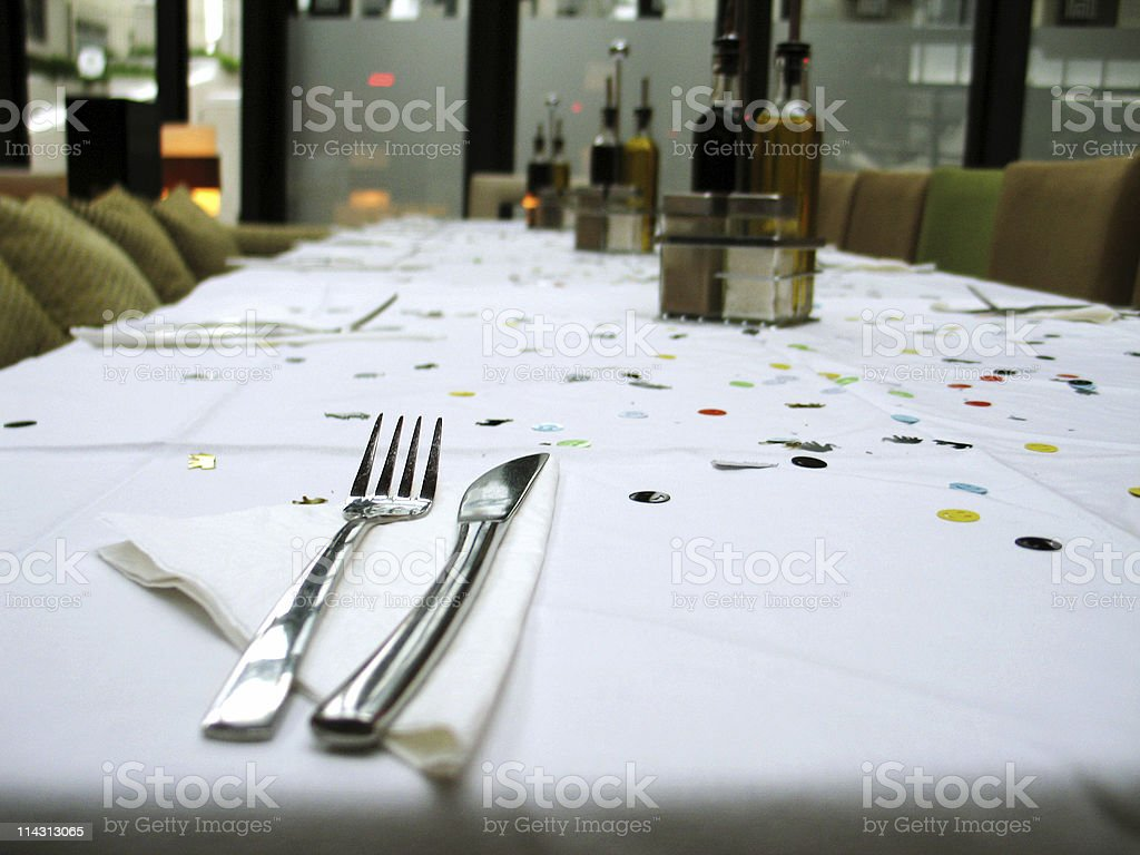 Office party table royalty-free stock photo